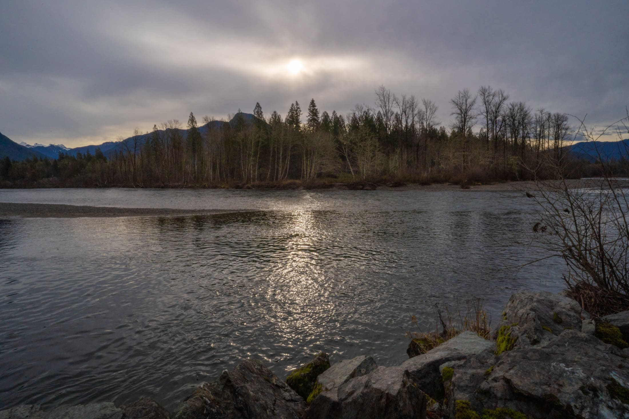 Skagit River outside of Concrete, Washington