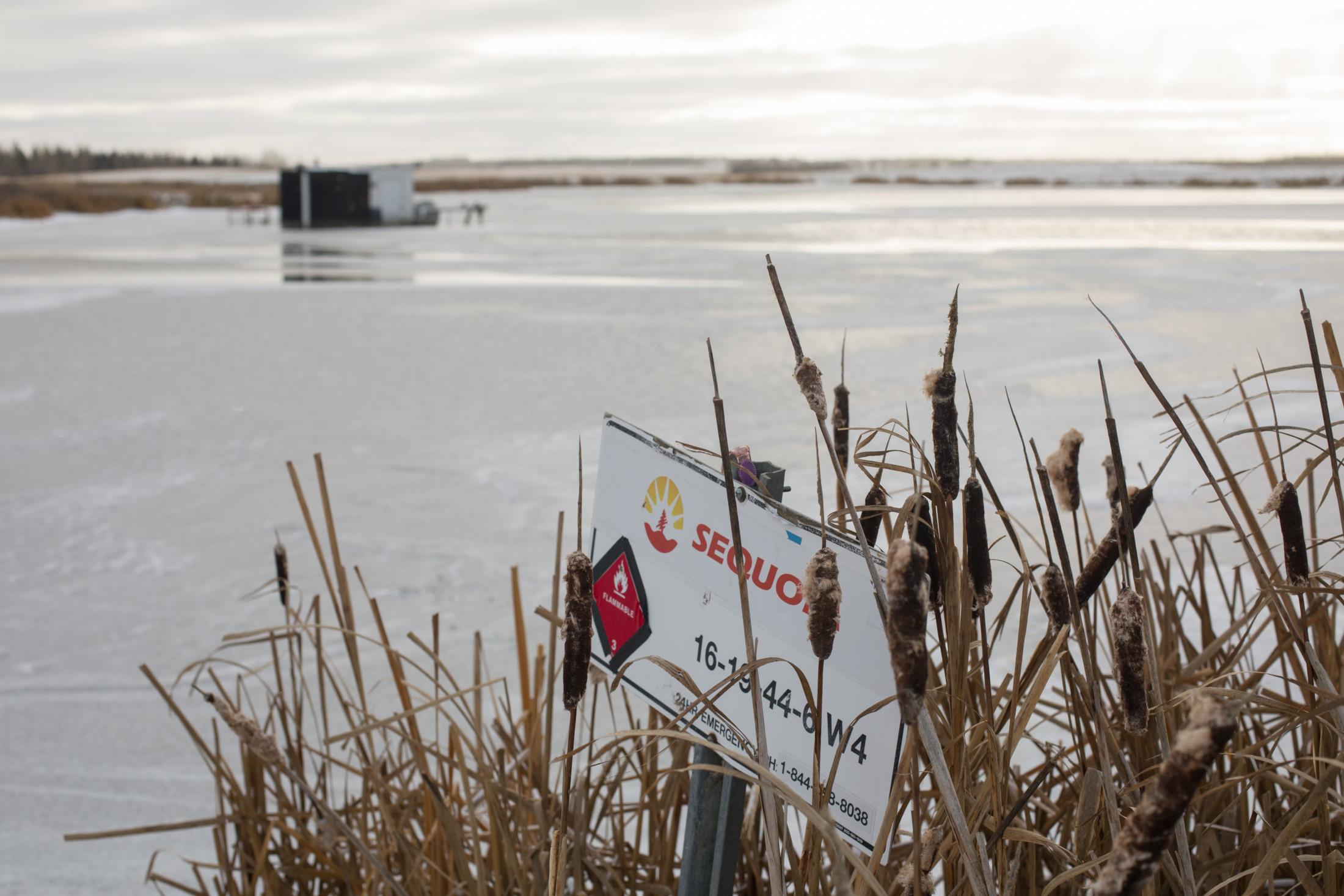 Oil lease site Wainwright, Alberta