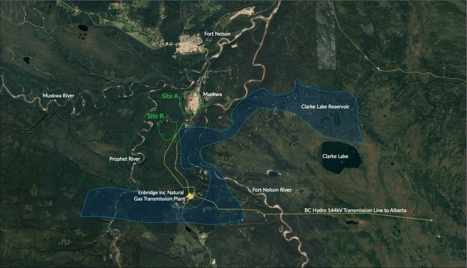 Clarke Lake Geothermal Map