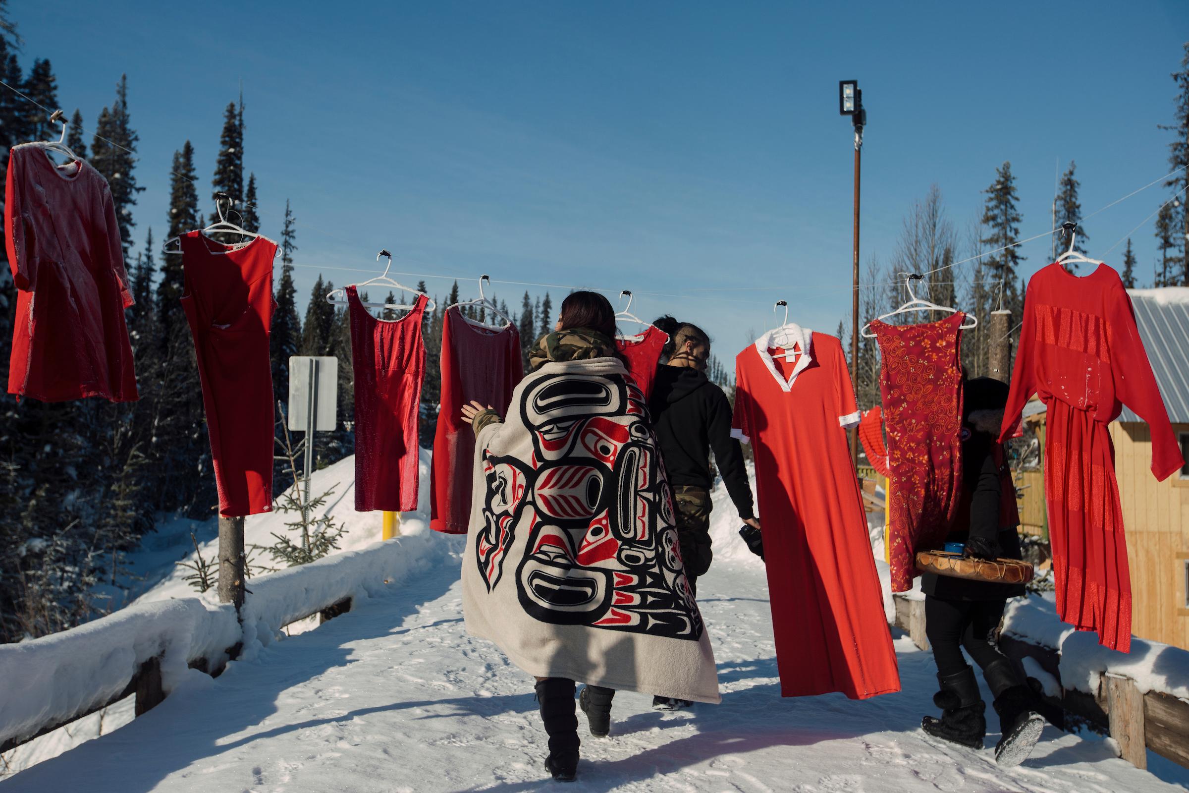 RCMP Unist'ot'en camp arrests red dresses Wet'suwet'en Coastal GasLink