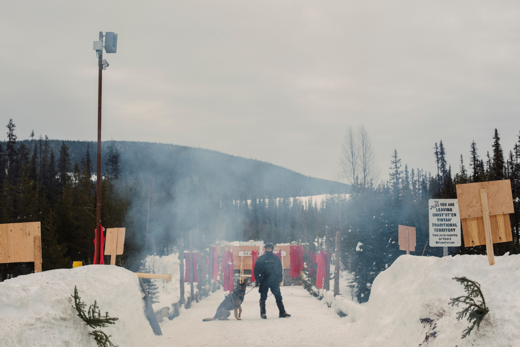 Coastal GasLink Pipeline Injunction RCMP Wet'suwet'en
