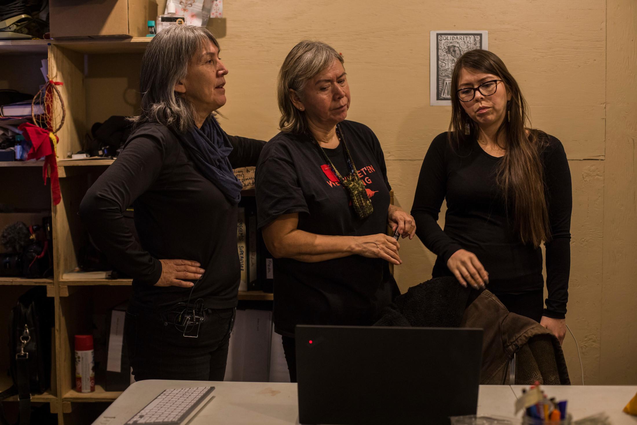 Freda Huson, Brenda Michell, Karla Tait