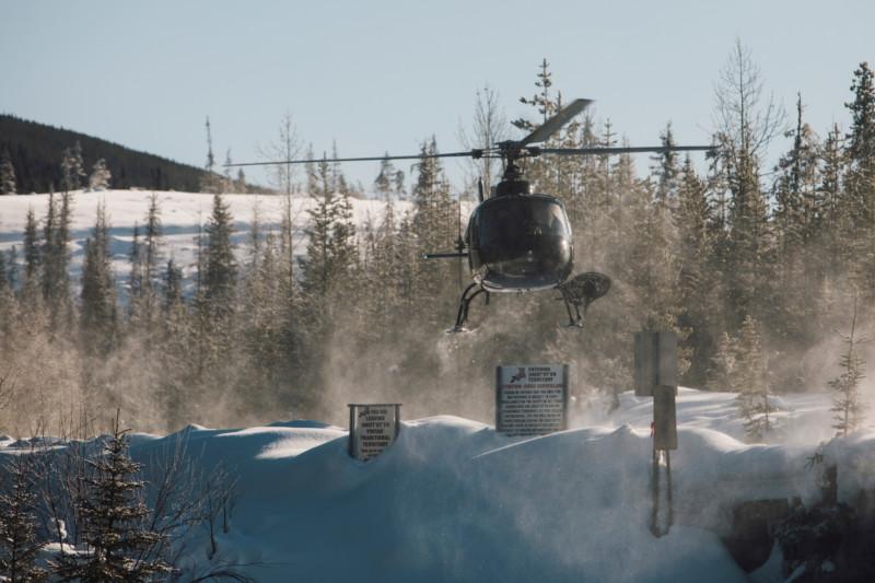 RCMP helicopter Wet'suwet'en Unist'ot'en