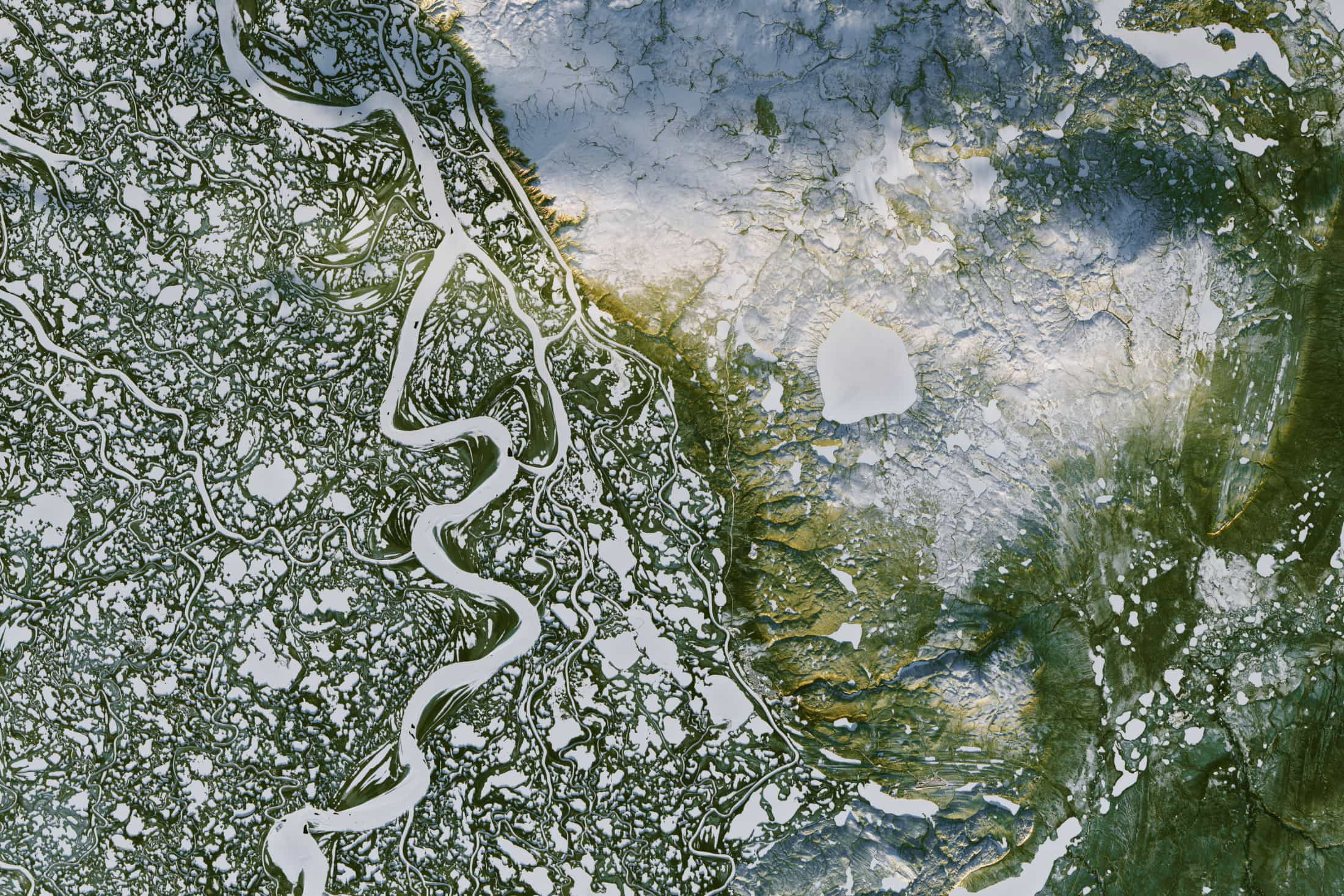 Mackenzie River NWT frozen NASA