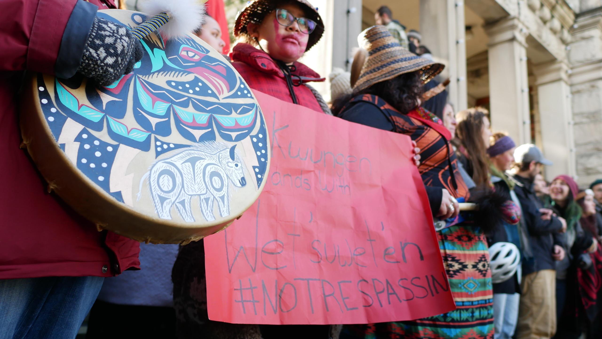 Wet'suwet'en solidarity protest B.C. Legislature Feb 11 2020