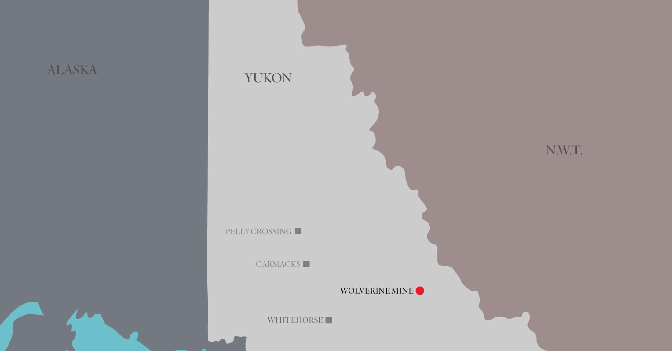 Wolverine Mine location map