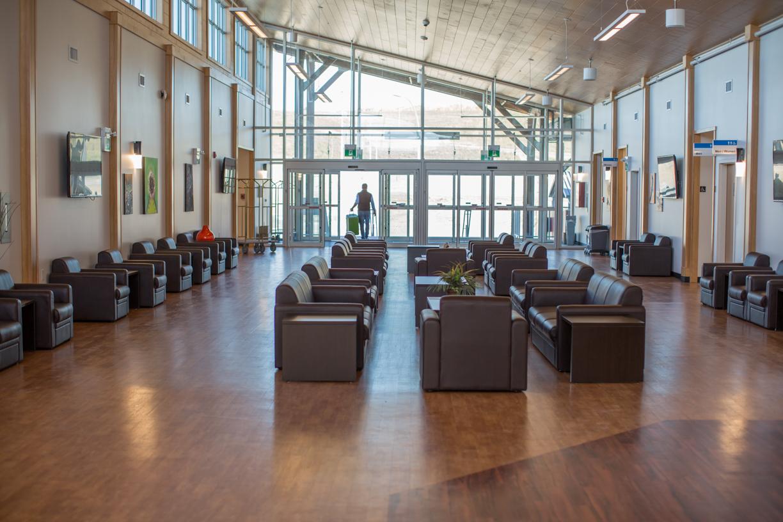 Site C work camp lodge lobby