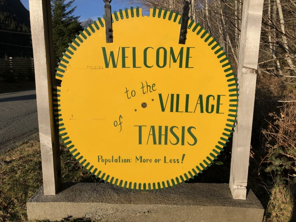 Welcome to Tahsis sign