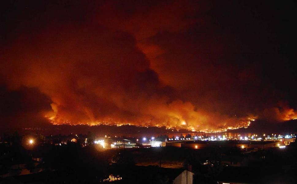 Okanagan wildfire 2003 BC