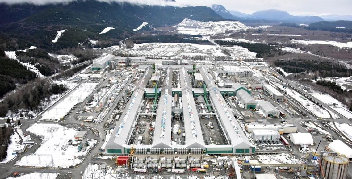 Rio Tinto's Kitimat smelter facility. Photo: Rio Tinto