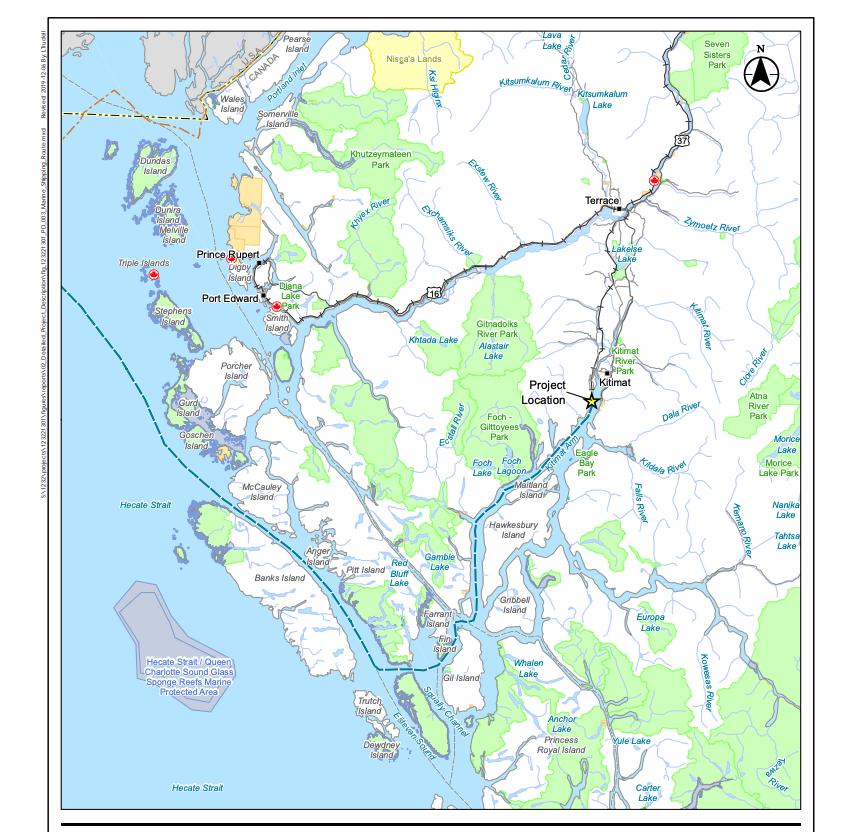 Cedar LNG carrier route