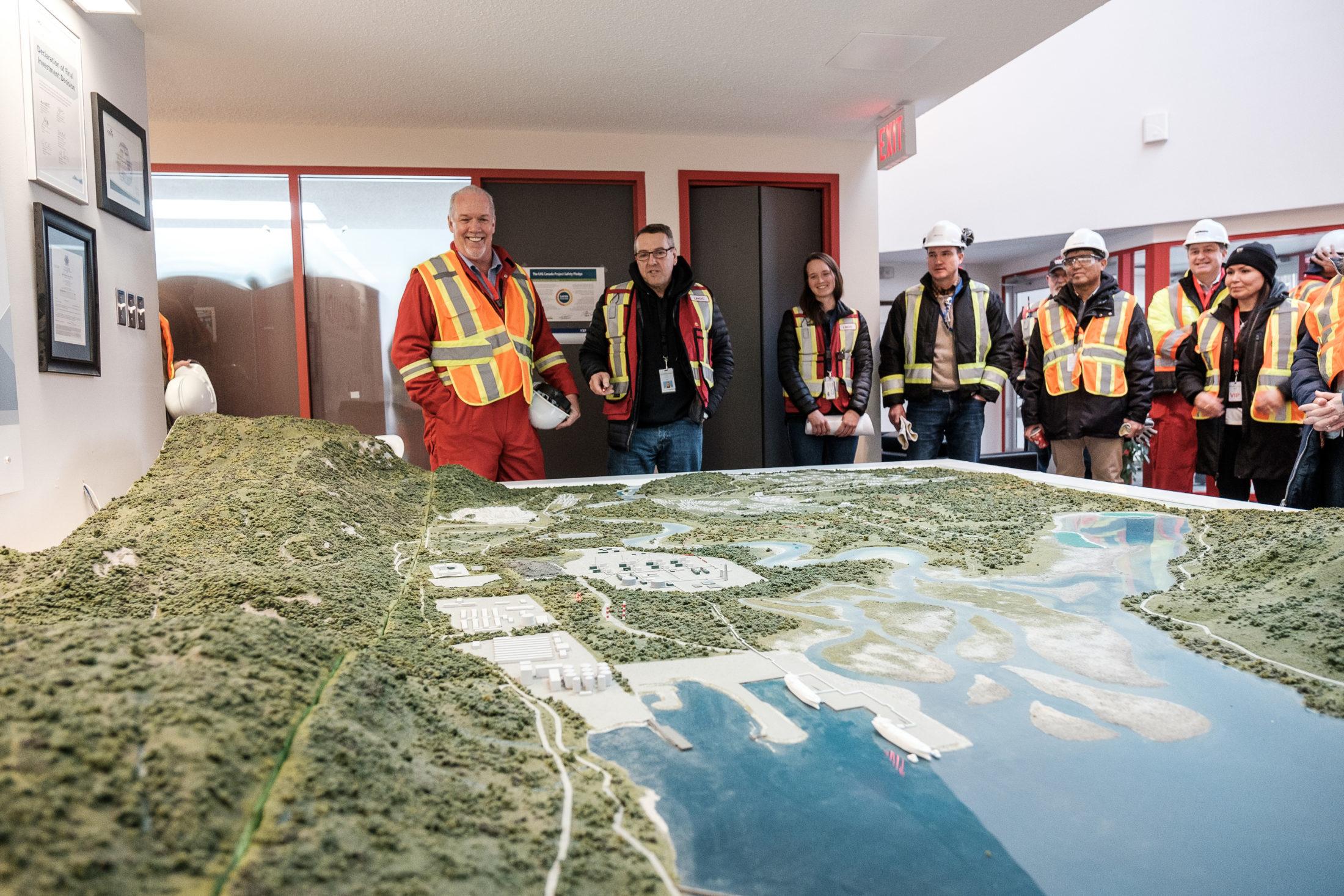 Premier John Horgan touring LNG Canada site Kitimat