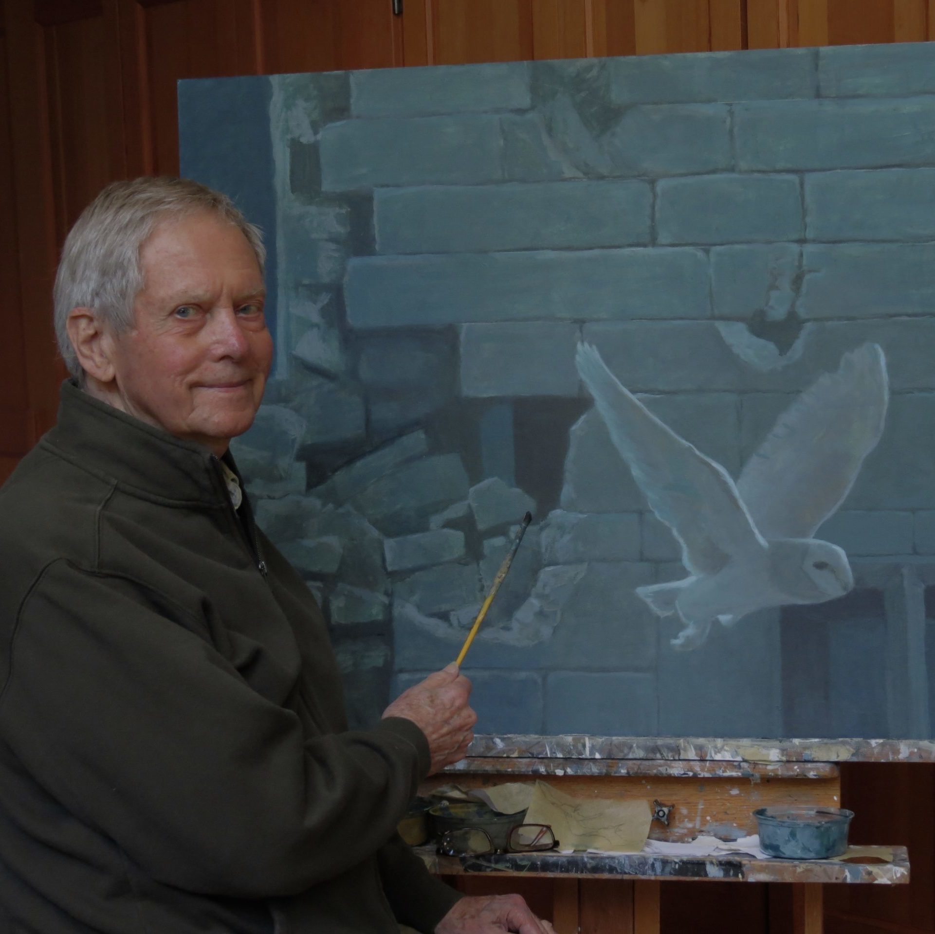 Robert Bateman, Barn Owl at Biddulph Old Hall