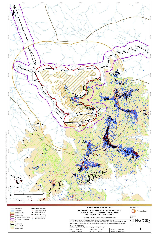 Sukunka coal mine caribou habitat