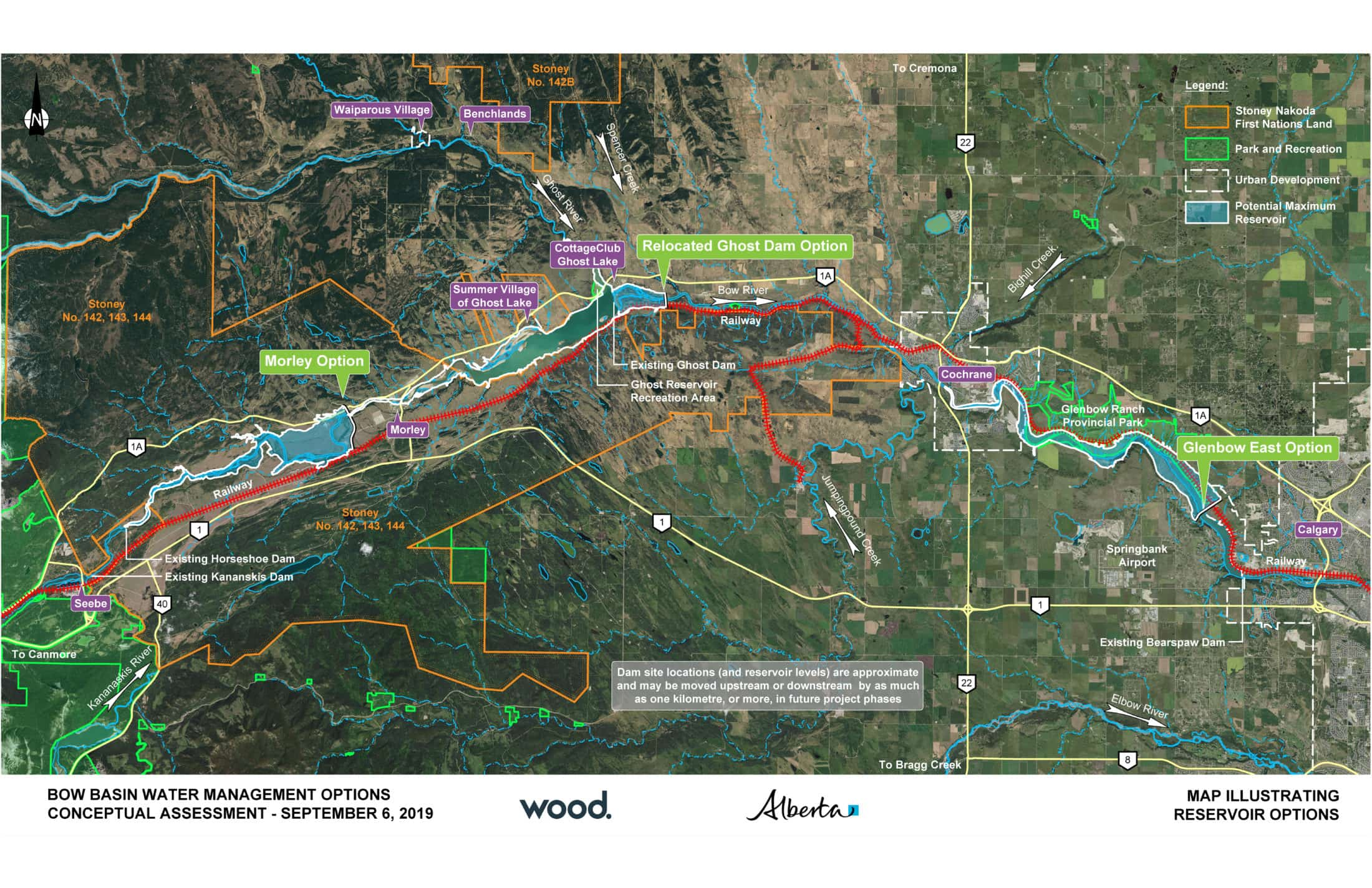 Bow River system proposed reservoir projects