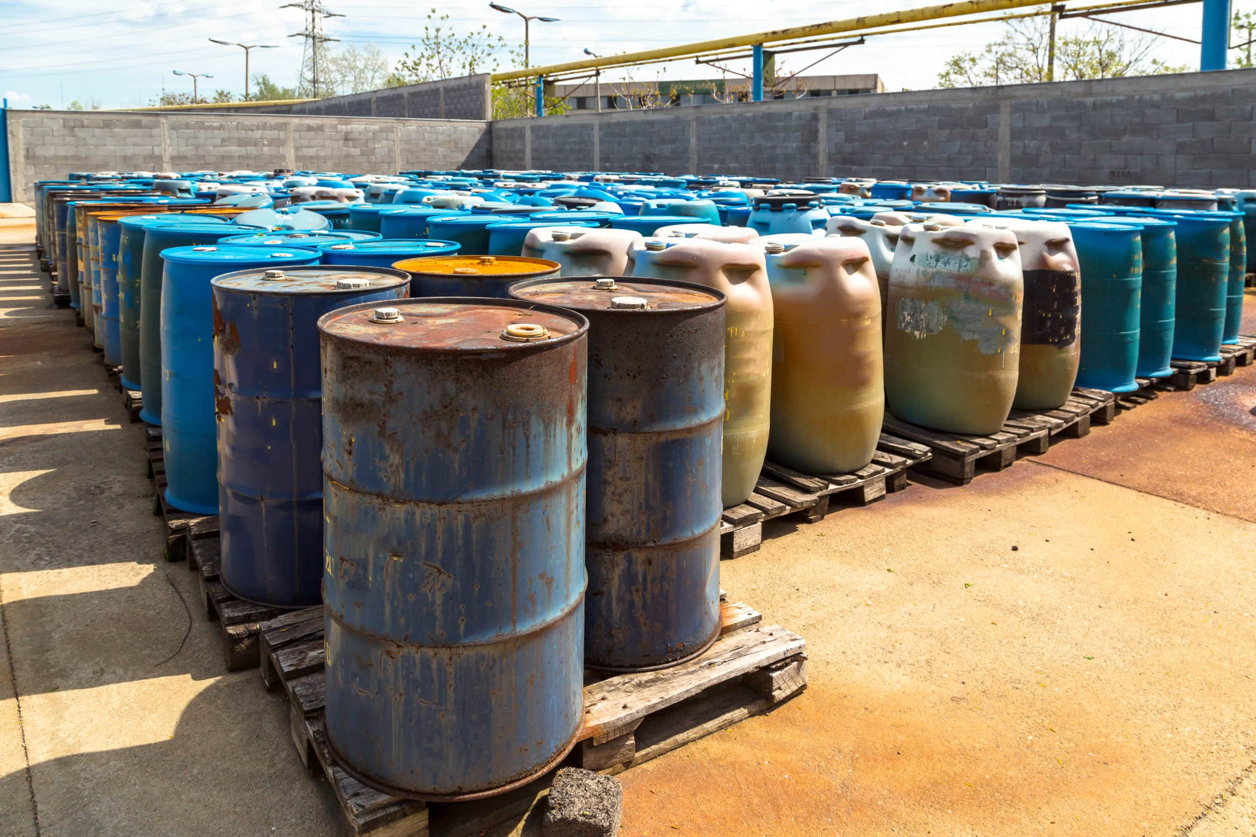 Barrels of toxic waste at the dump