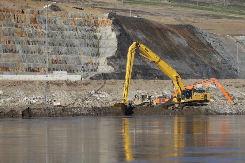 Site C dam construction