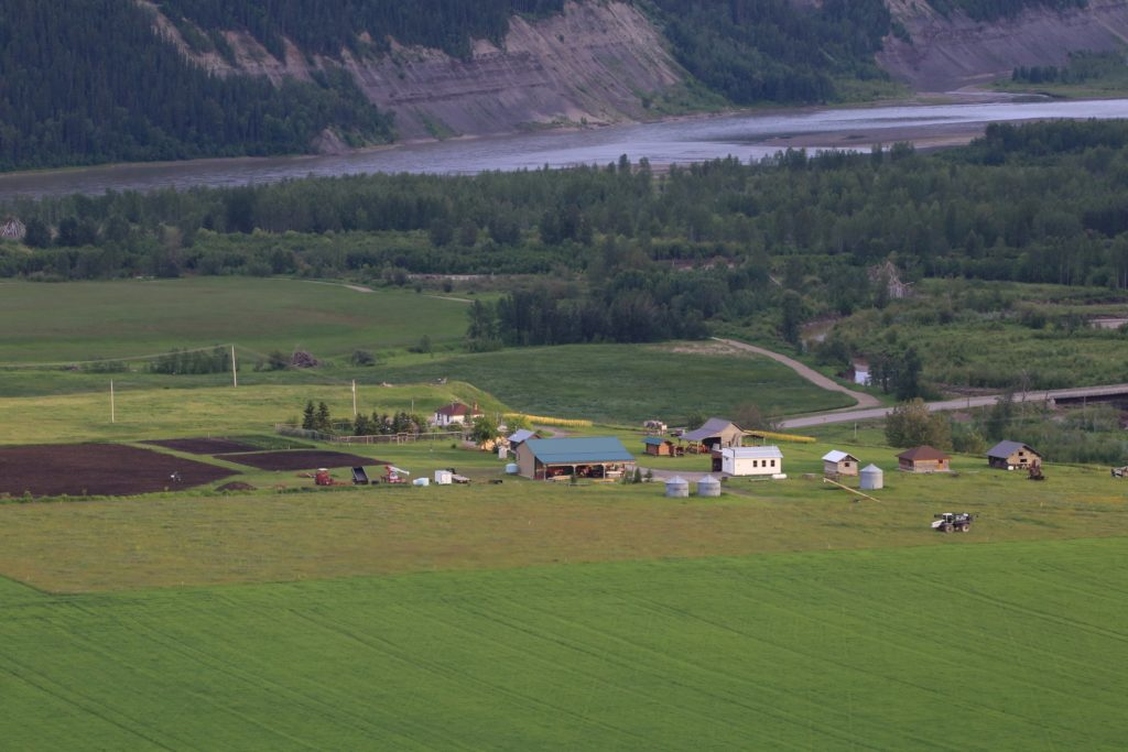 Boon family farm in Site C dam flood plain