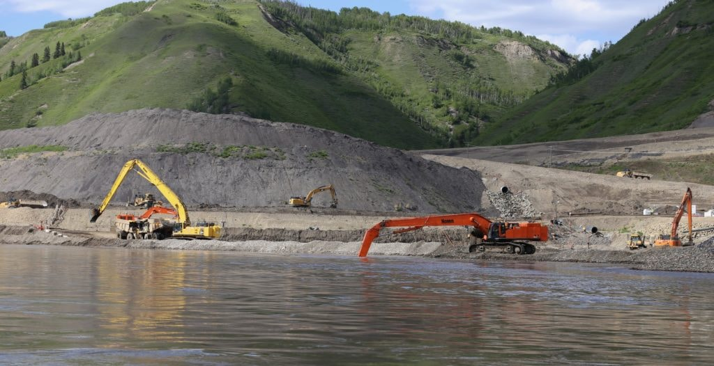 Site C dam construction