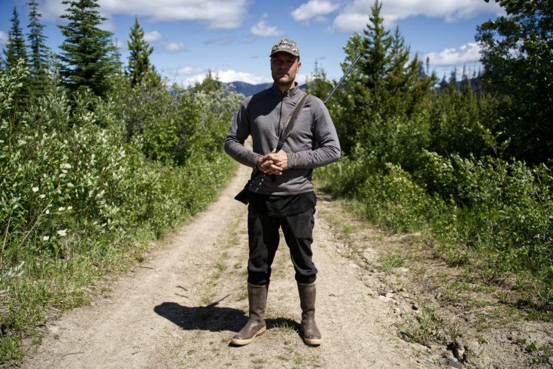 Julian Napoleon guardian Saulteau caribou pen
