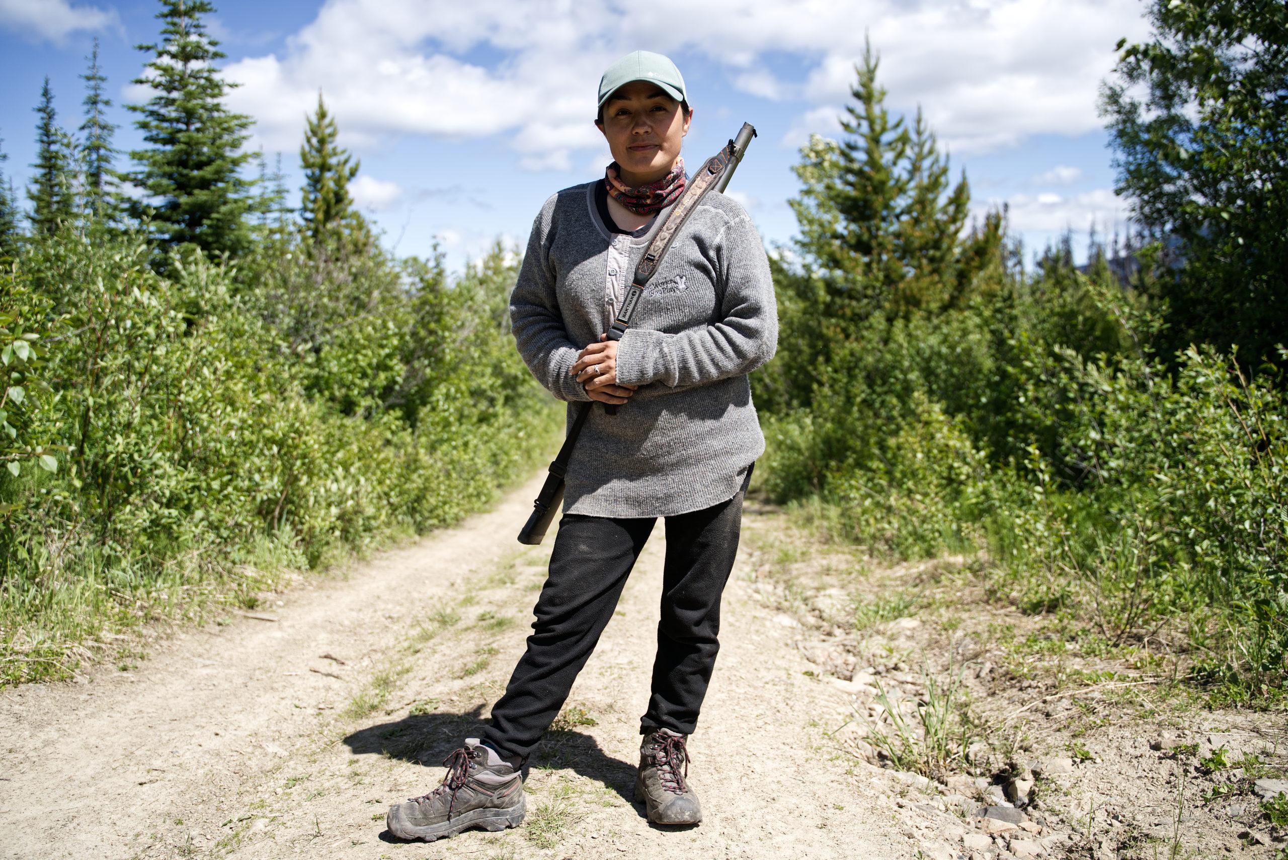 Starr Gauthier guardian caribou pen