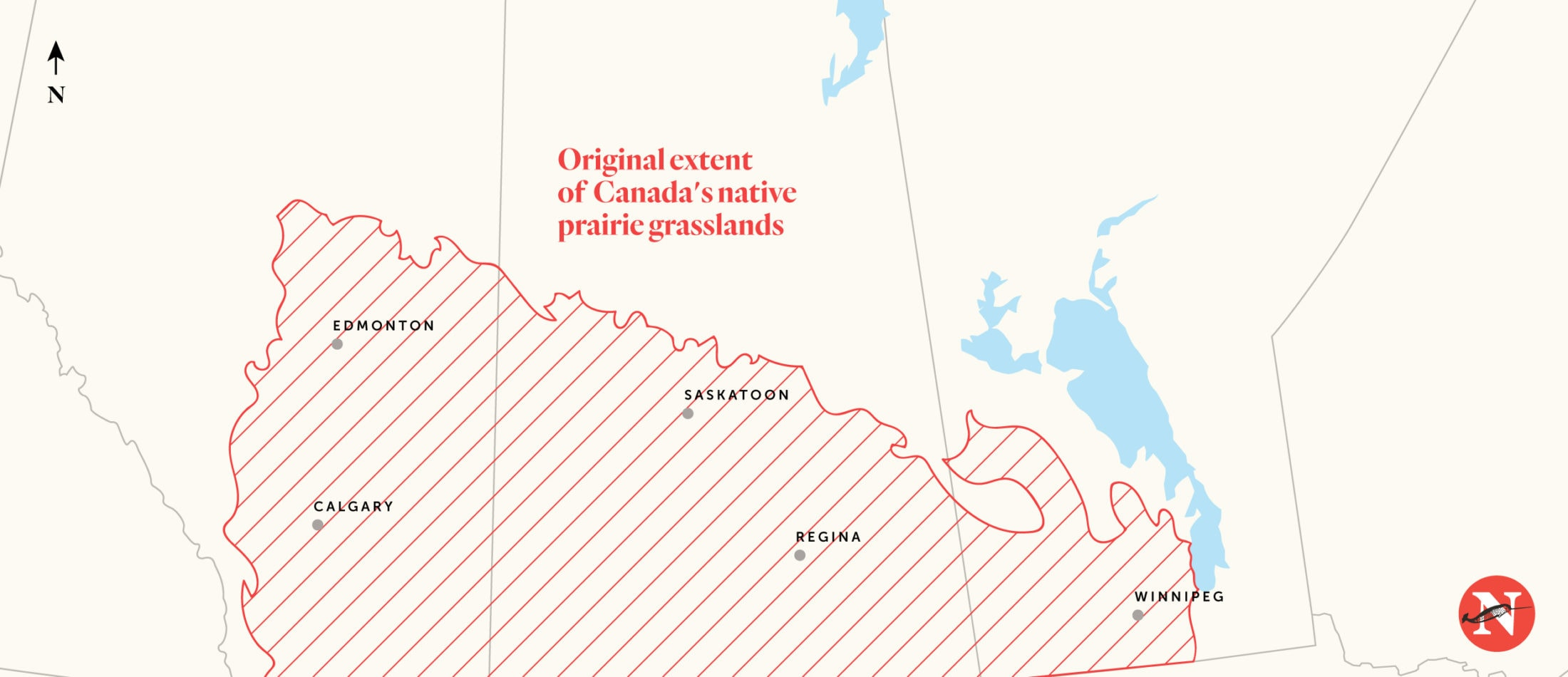 Canada native prairie grasslands map