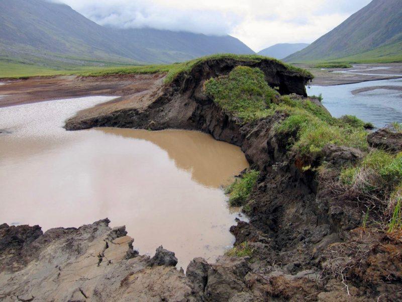 Permafrost thaw precipitation Yukon Alaska