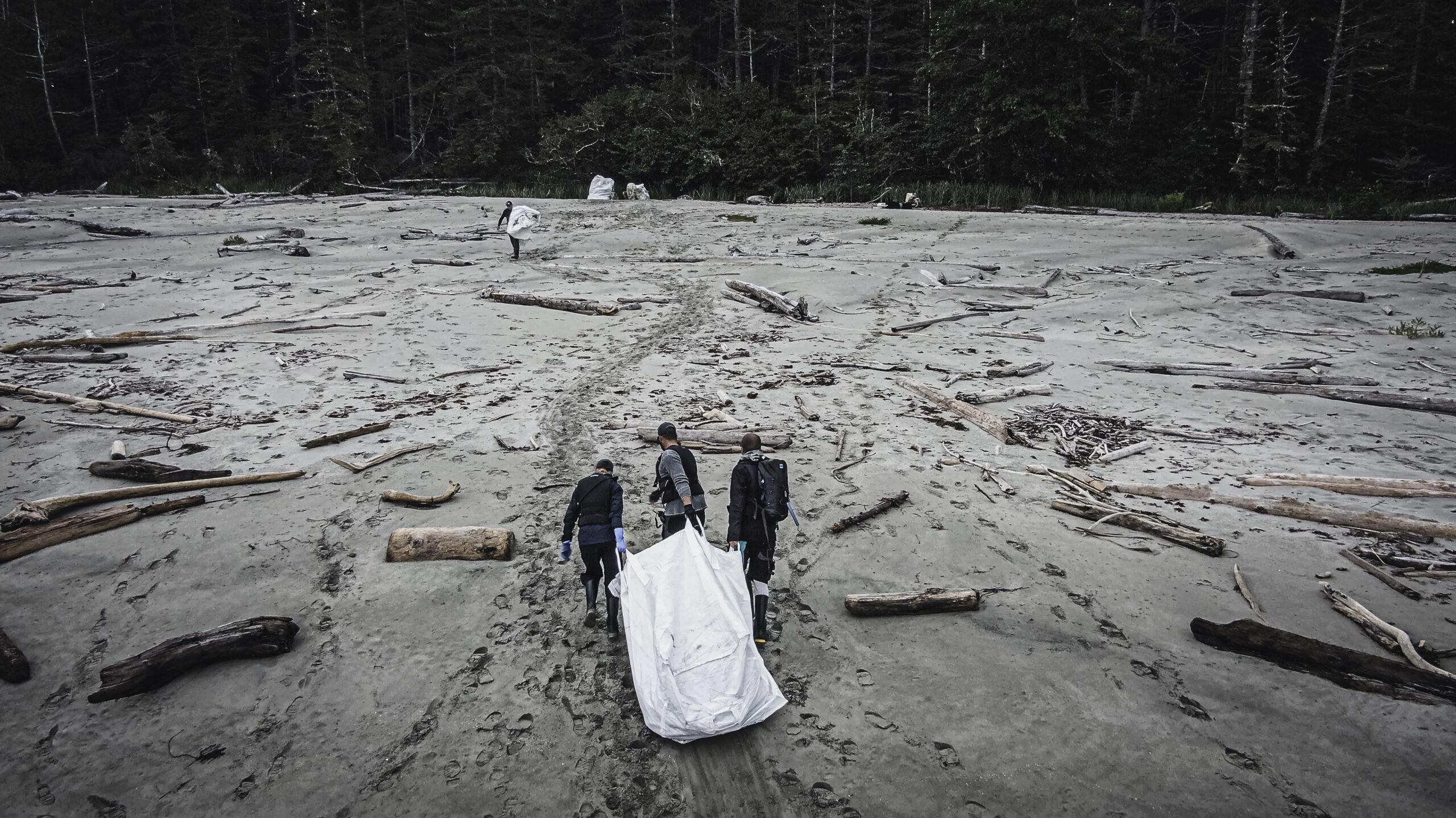 Dragging a bag, Clean Coast, Clean Waters Initiative