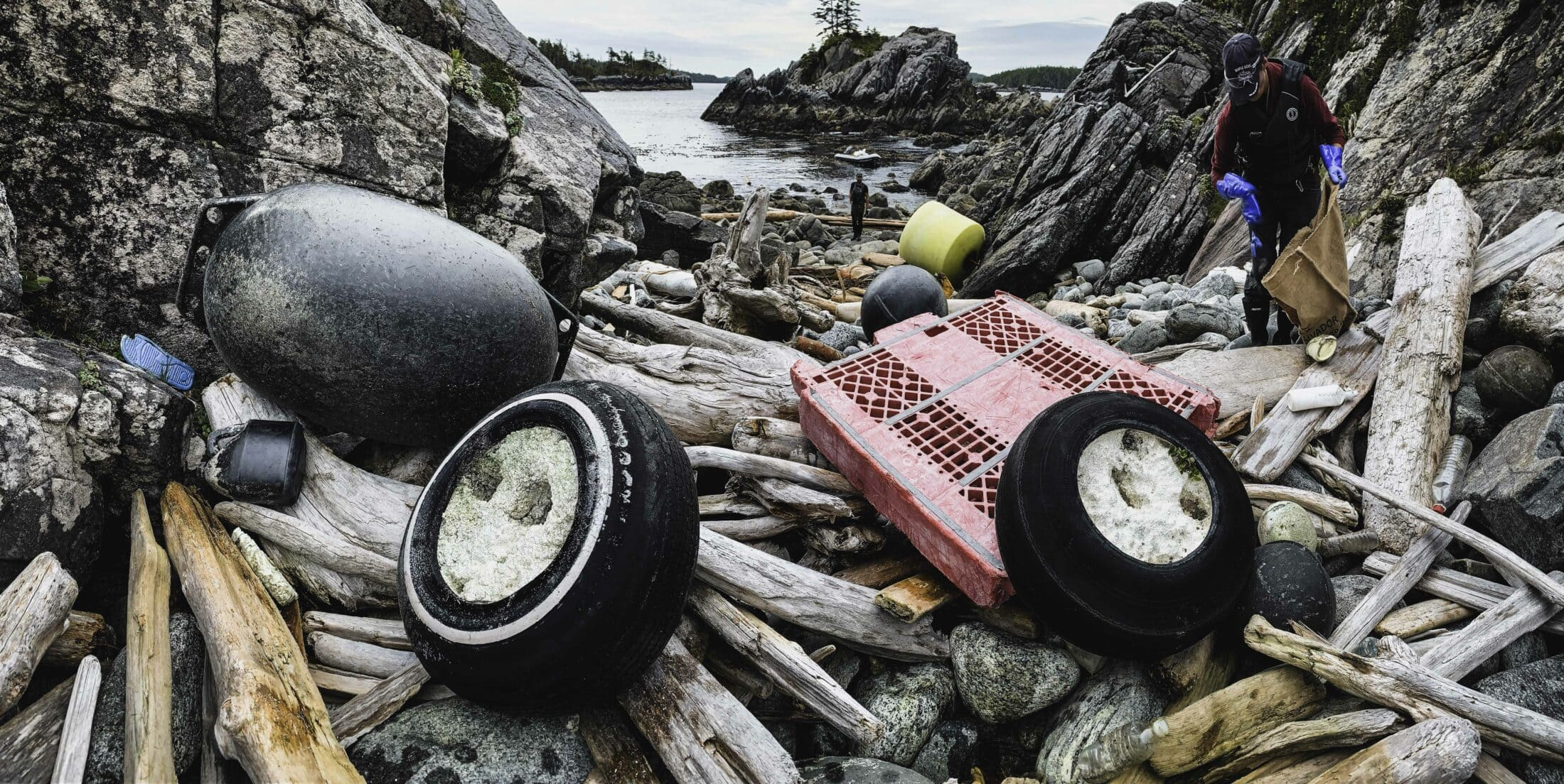 Debris on beach, Clean Coast, Clean Waters Initiative