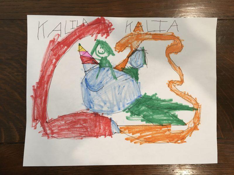 Kalia Klassen narwhal drawing