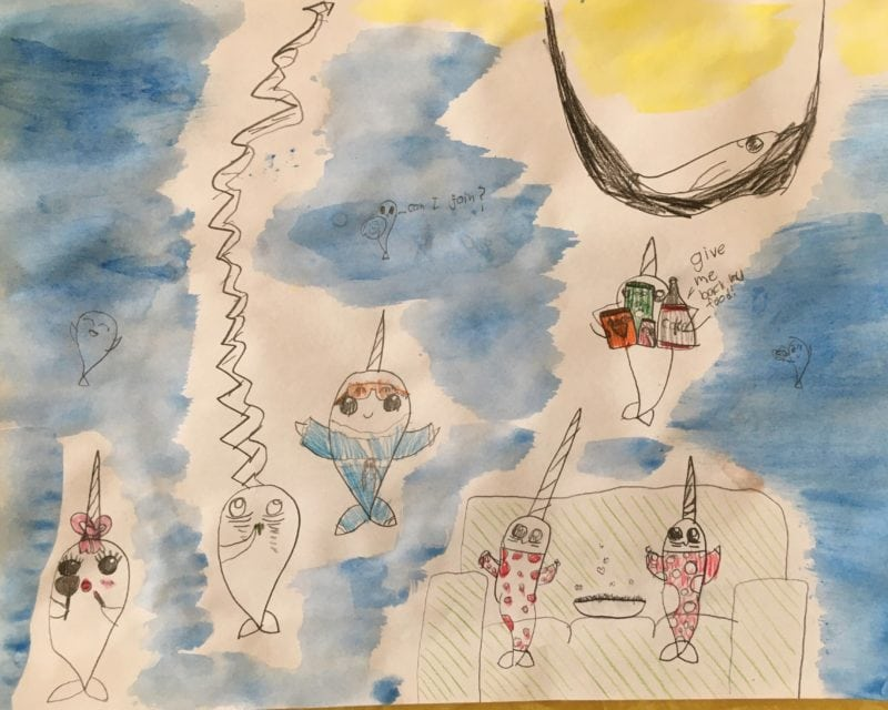 Ocea Goers narwhal drawing