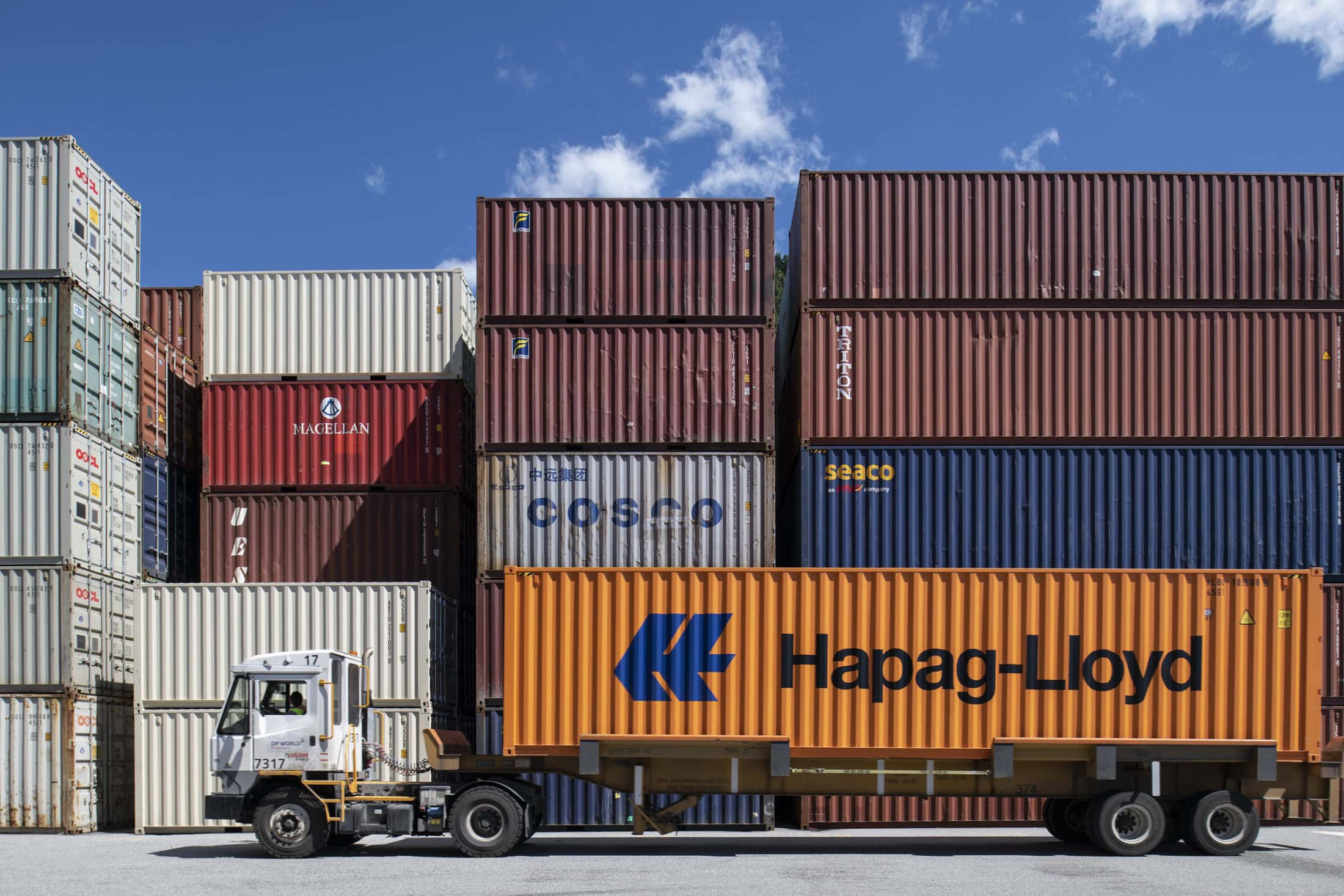 Truck at Prince Rupert port