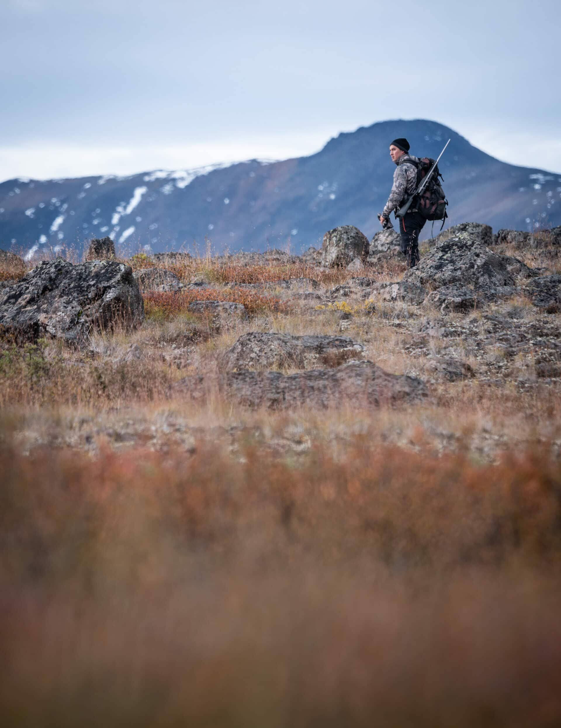 Tahltan President Chad Day hunting