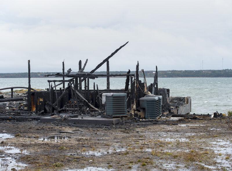nova scotia lobster dispute fire debris andrew vaughan