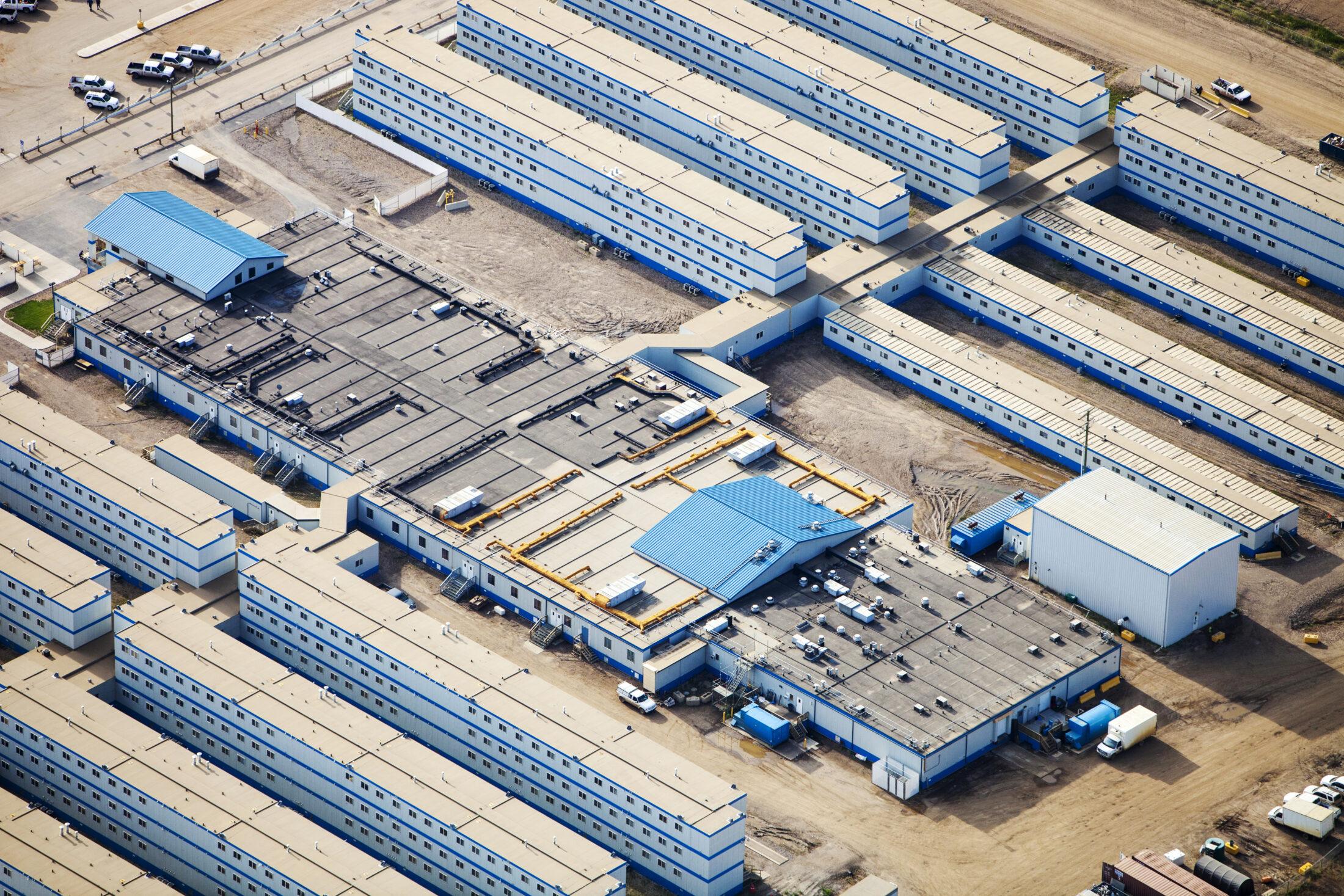 Alberta oilsands worker camp mancamp