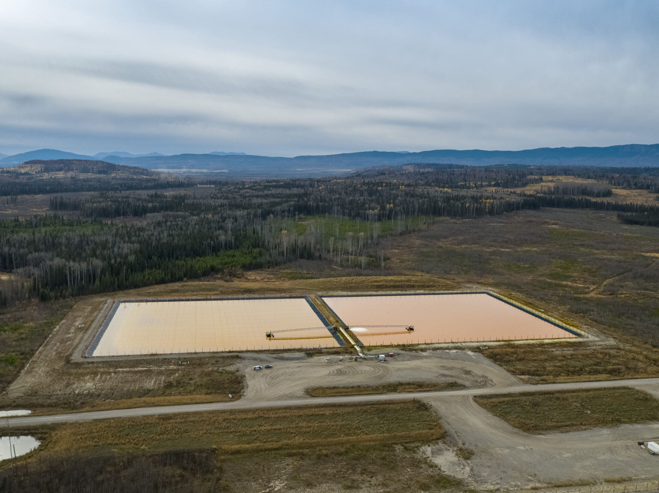Industrial pools of water, Peace River region