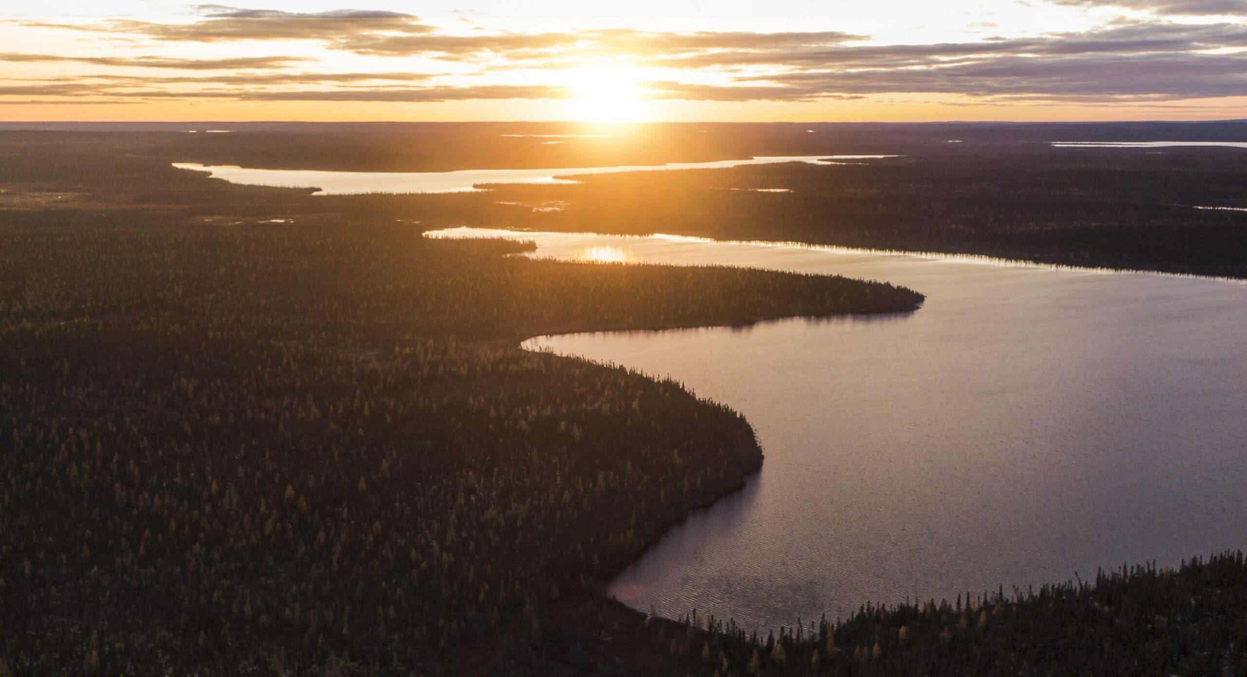 Tadoule Lake at sunset