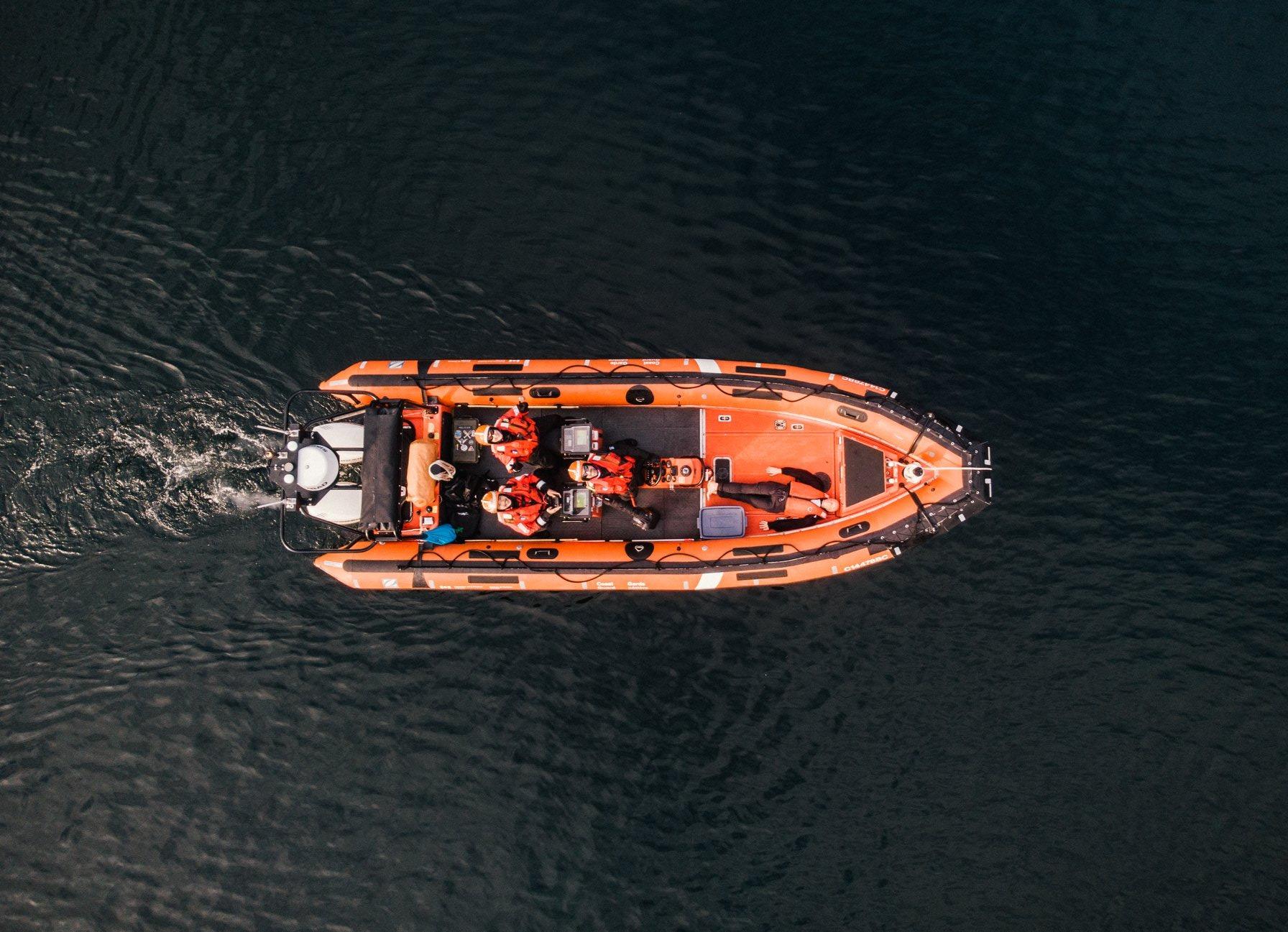 bird's eye view of boat