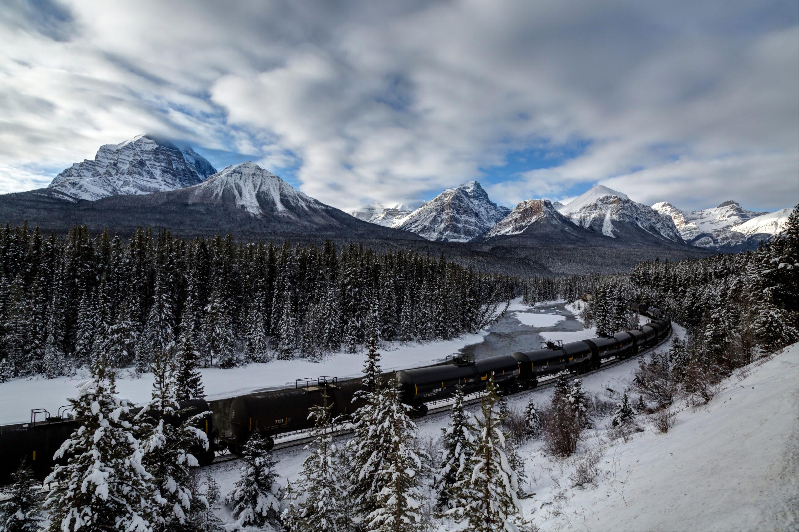 Train in Banff, Alta.