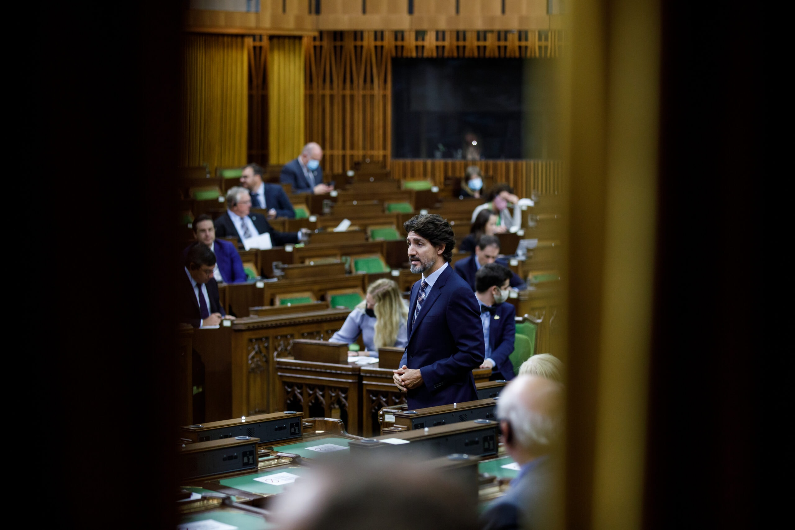 trudeau speaks in house of commons