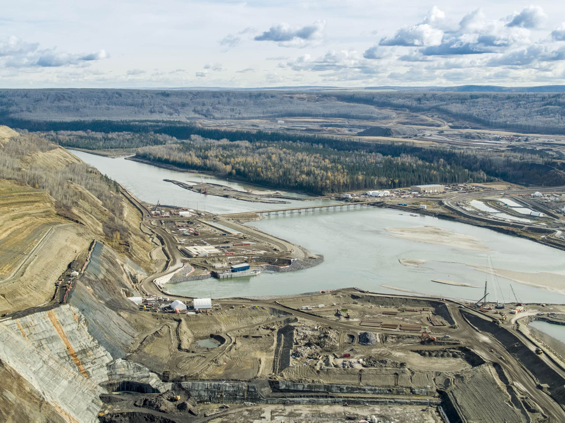 Site C dam construction fall 2020 Jayce Hawkins