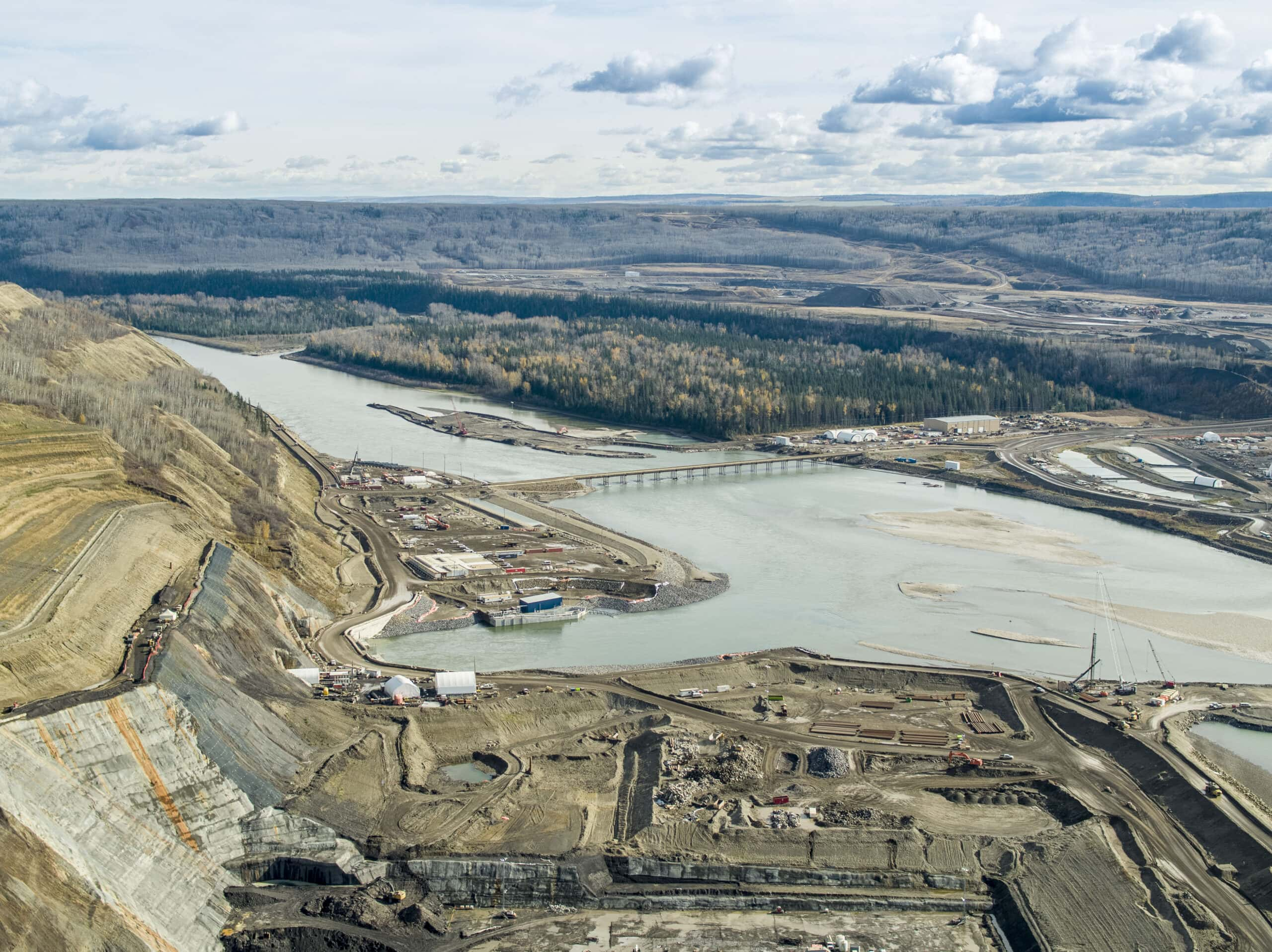 Site C dam construction fall 2020 Jayce Hawkins