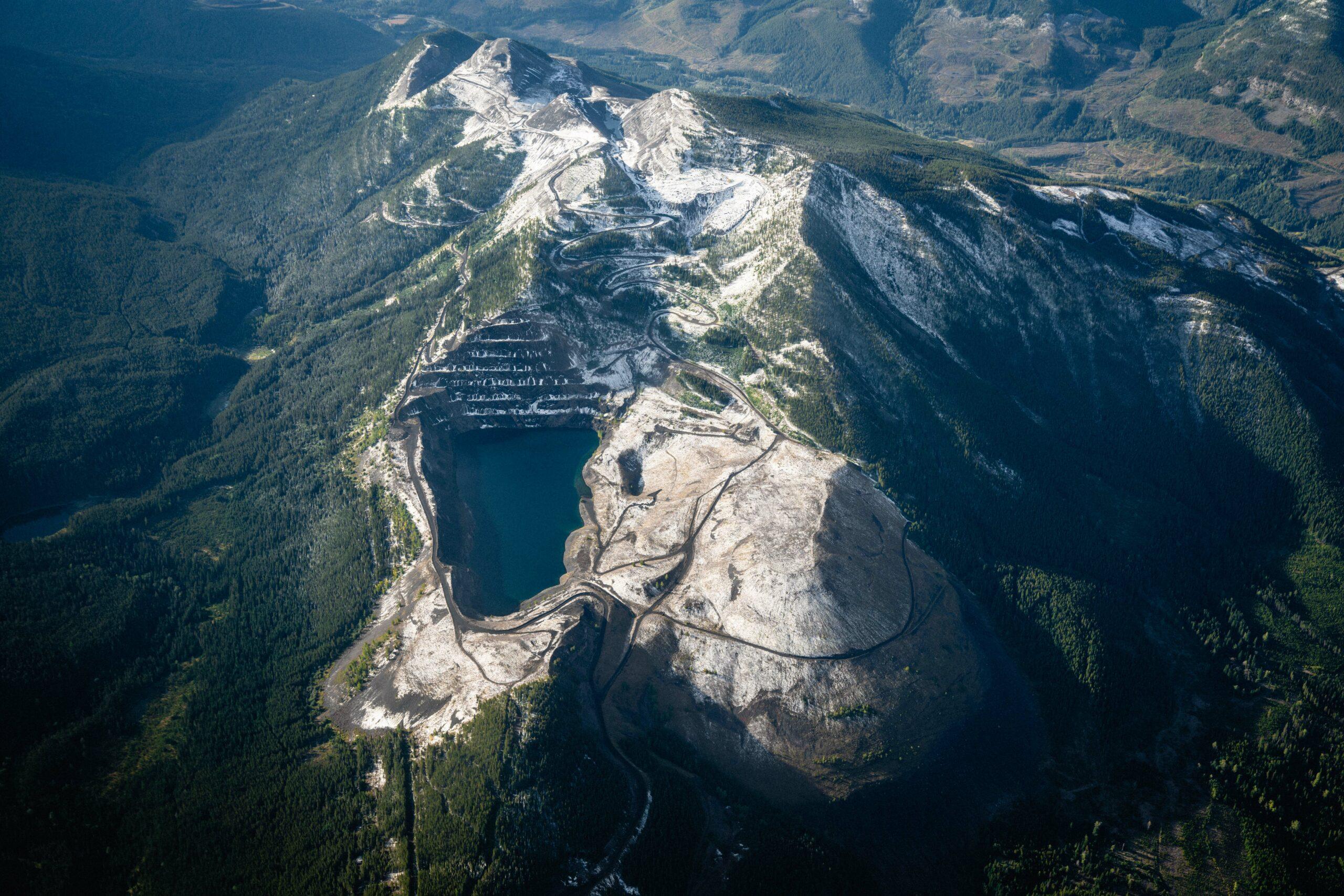 aerial view of mine in southwestern Alberta