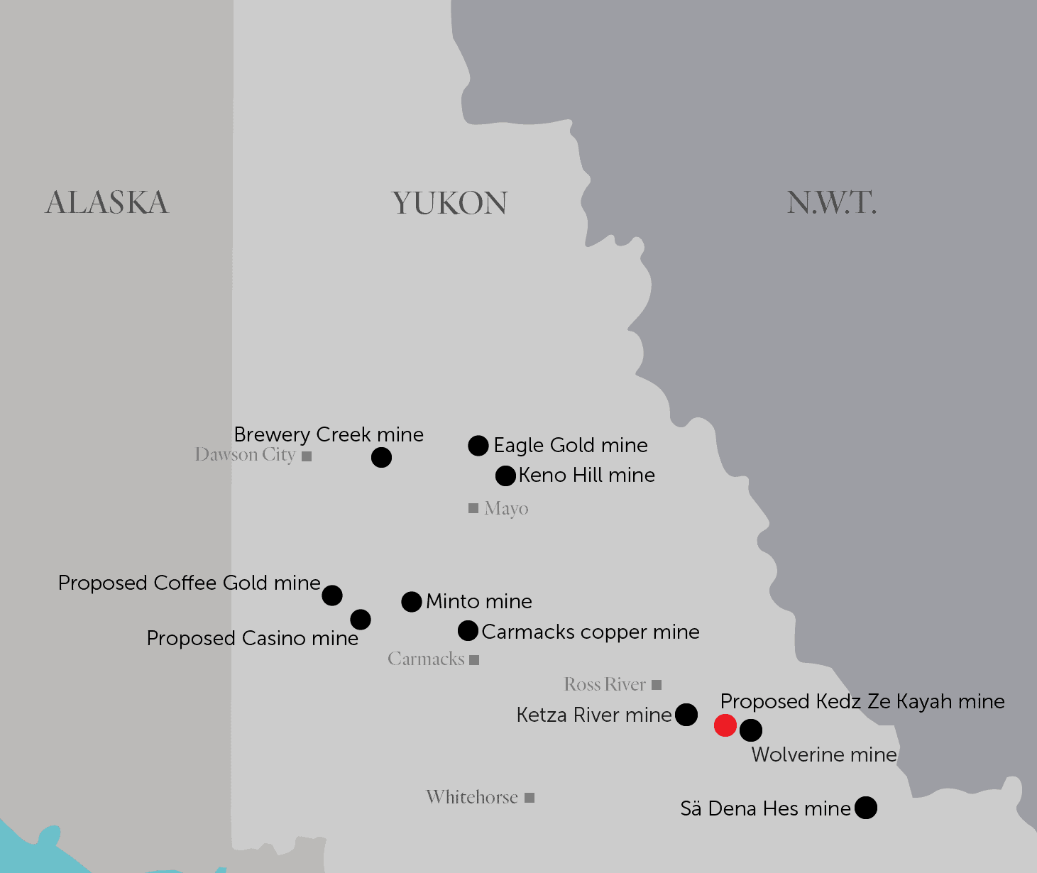 Kudz Ze Kayah mine location map Yukon mines The Narwhal