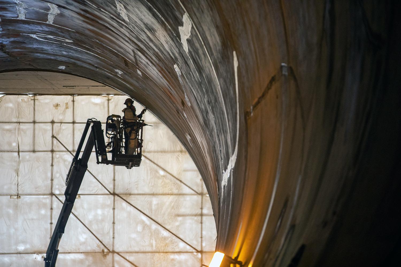 Site C Dam Construction diversion tunnel
