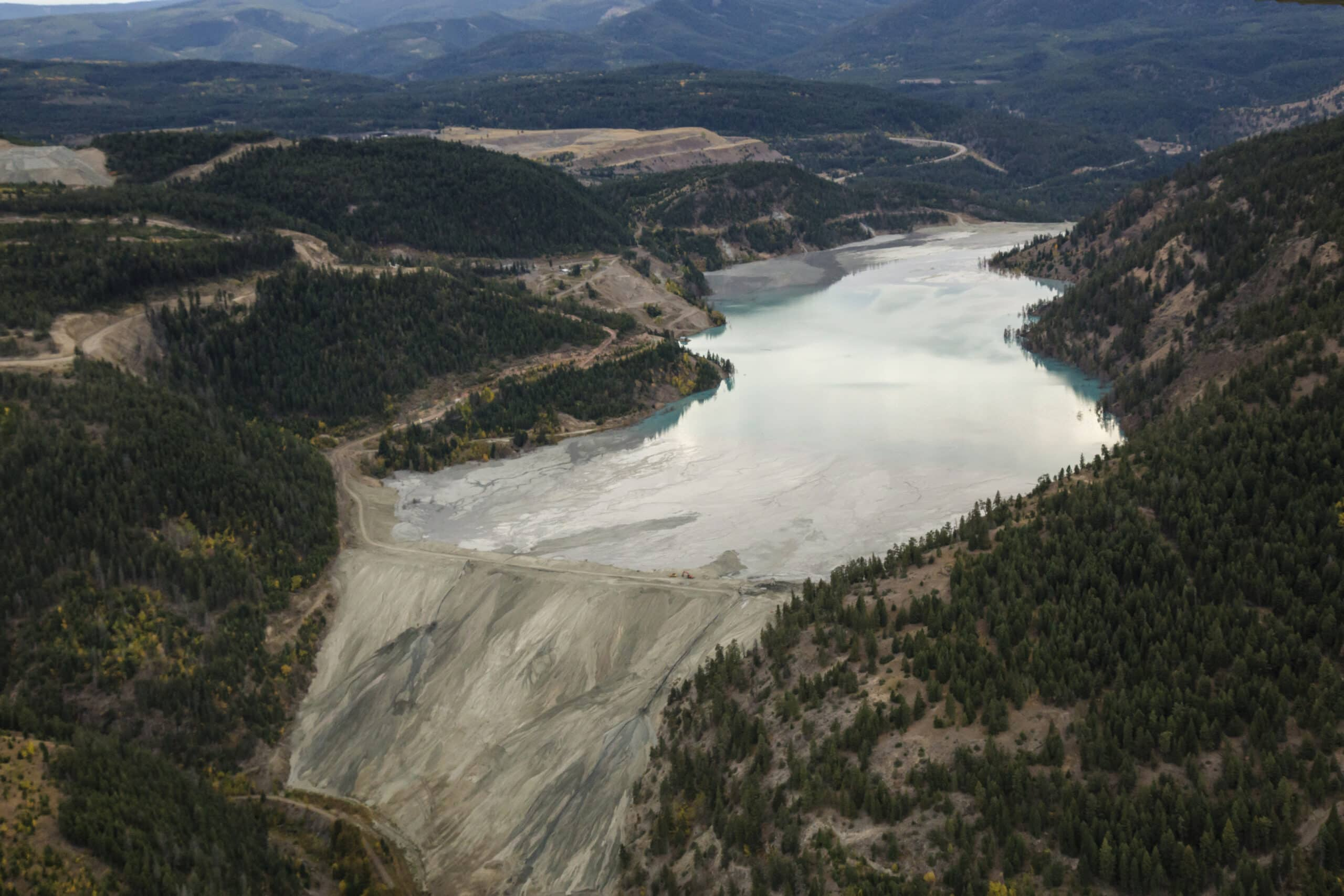 Tailings Pond at Copper Mountain Mining Corporation Similkameen Princeton BC Canada