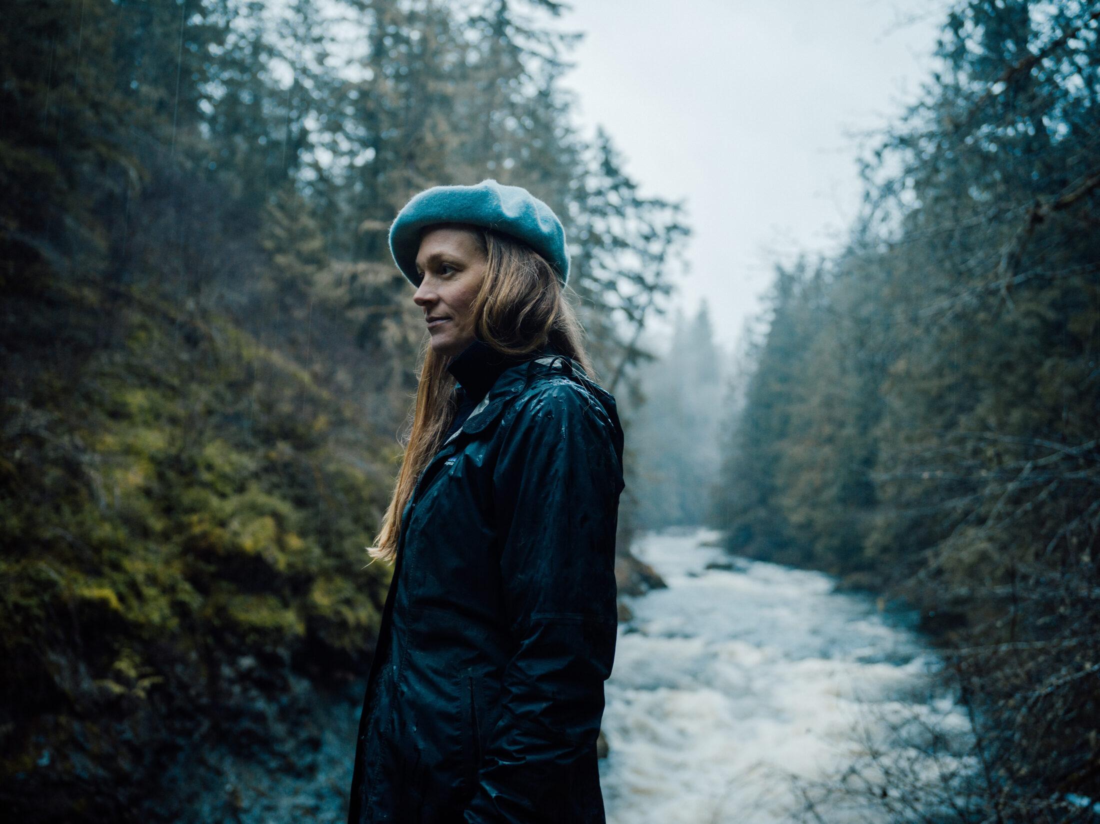 Sarah Davies-Long stands near the Koksilah River