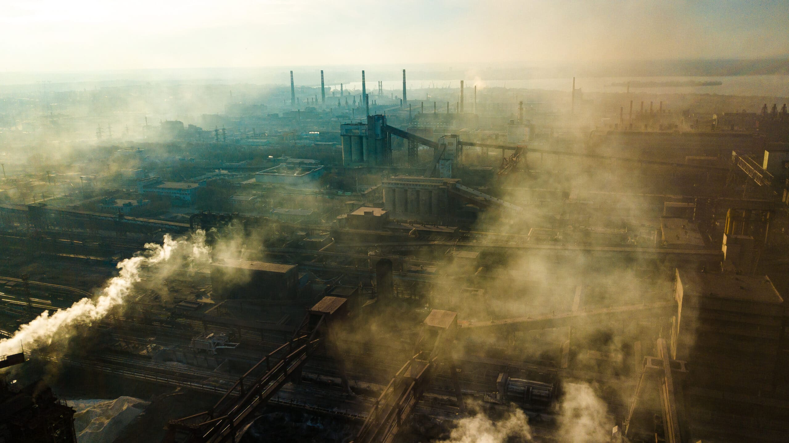 Steel,Mill,Metallurgical,Plant,Bad,Ecology,Smoke,From,Pipes,Aerial
