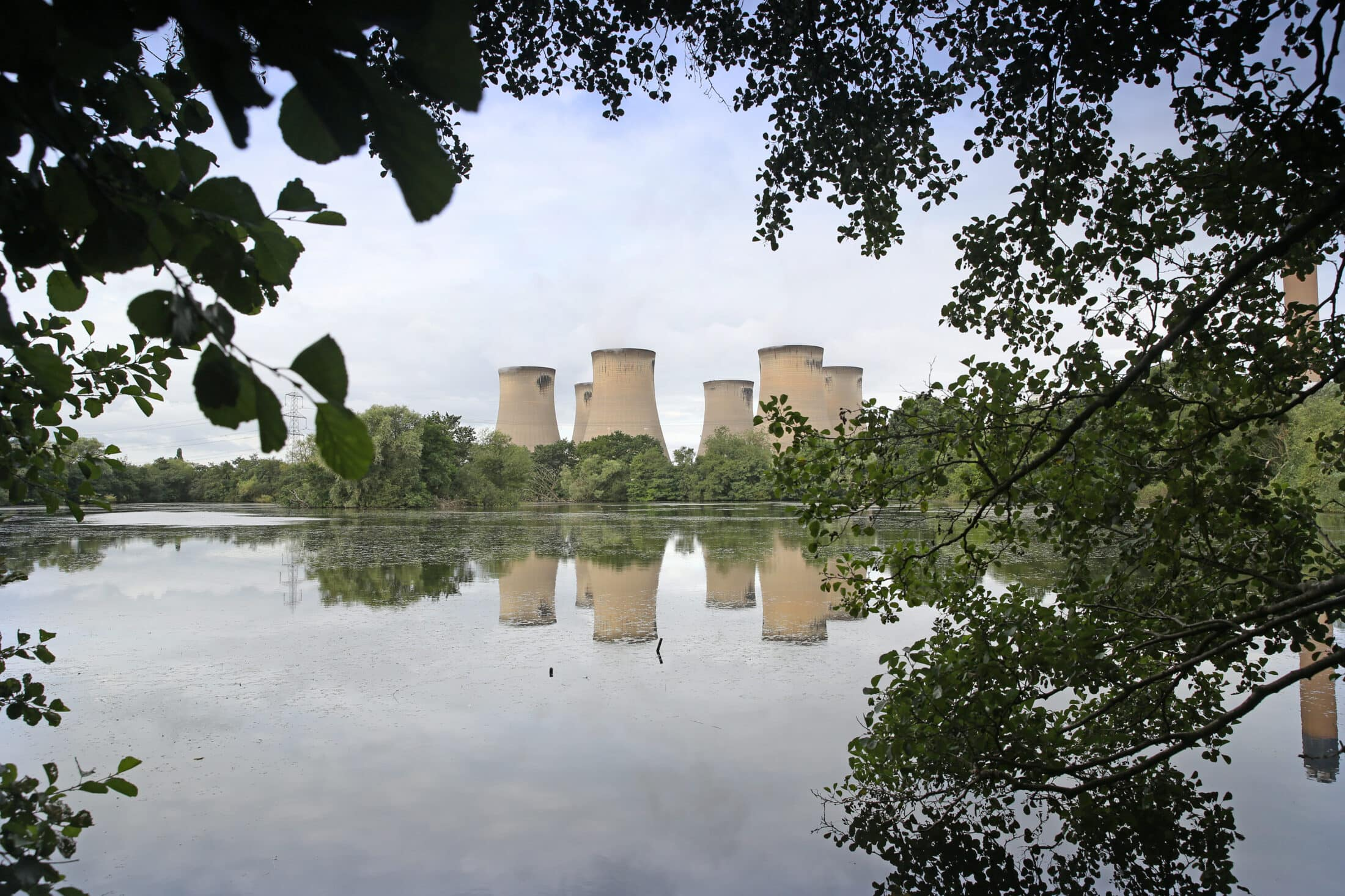 A view of the Drax power-plant in Yorkshire