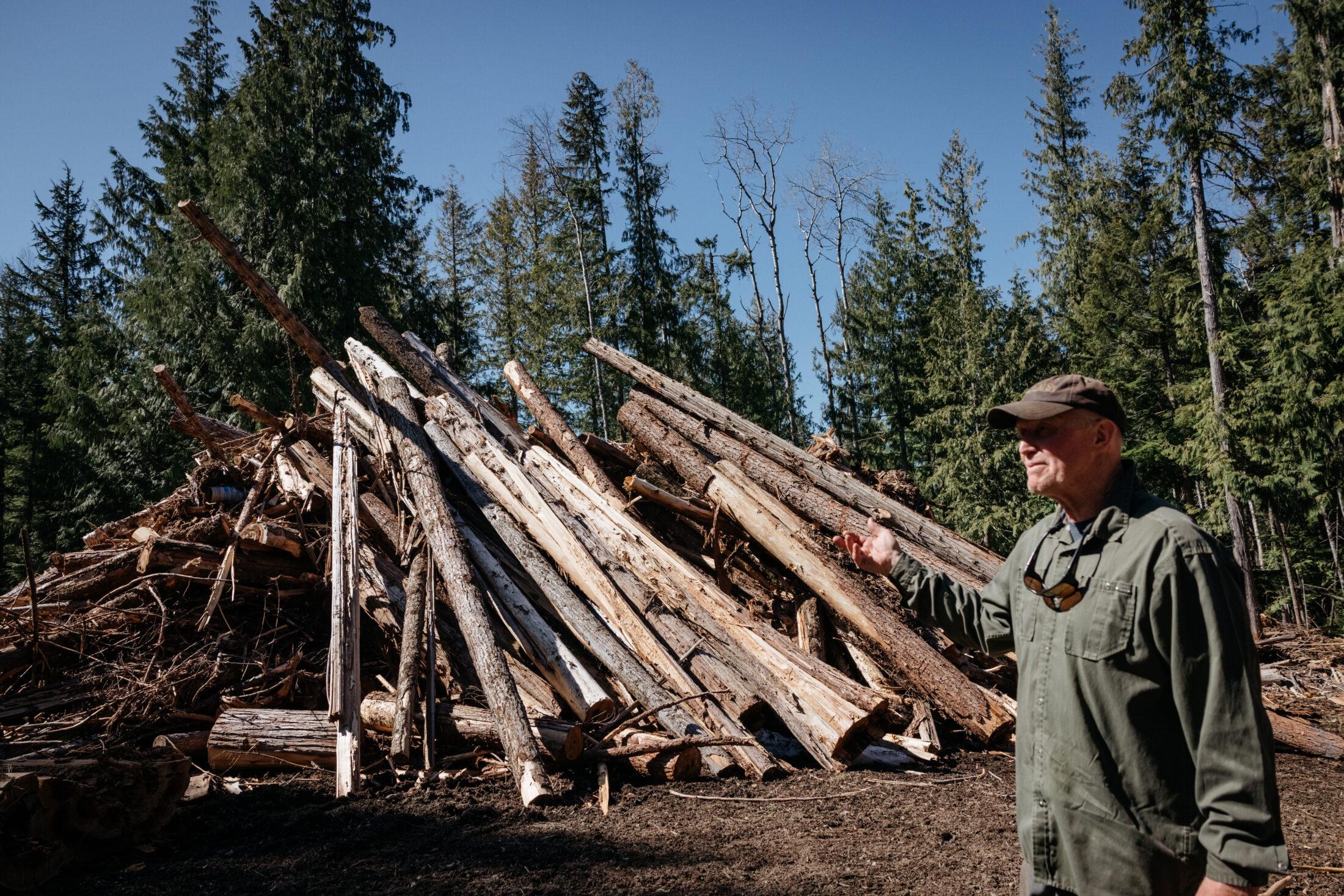 Gene Allen, waste wood